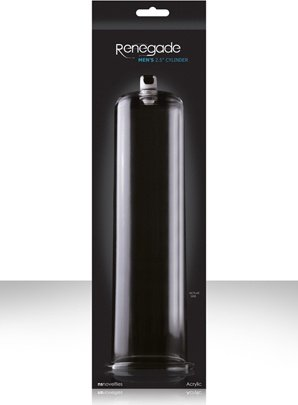 Колба renegade man's cylinder 2,5 для помпы черная, фото 5