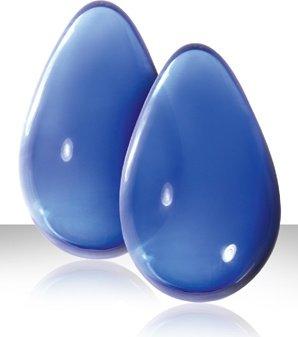 Вагинальные шарики cryst'al kegel eggs из стекла большие голубые, фото 3