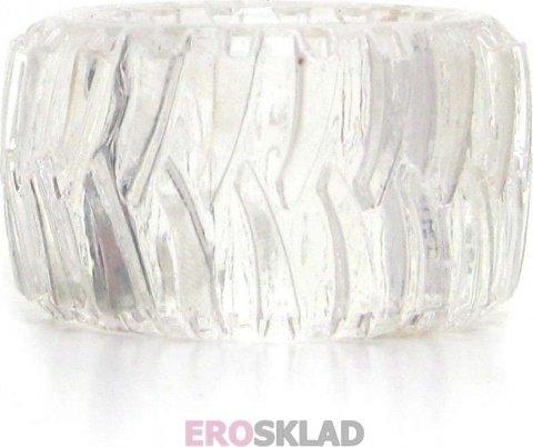 Эрекционное кольцо Treads Men's Ring Display Wide, цвет Прозрачный, фото 4