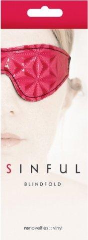 Маска на глаза sinful blidfold закрытая розовая, фото 2