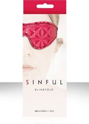 Маска на глаза sinful blidfold закрытая розовая, фото 3