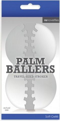 Мастурбатор фантазийный palm ballers прозрачный, фото 2