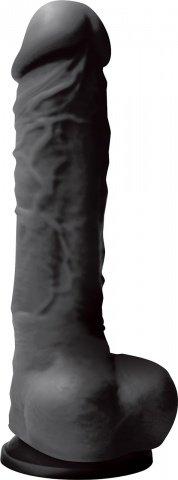 Фаллоимитатор Colours - 8 на присоске черный 25 см
