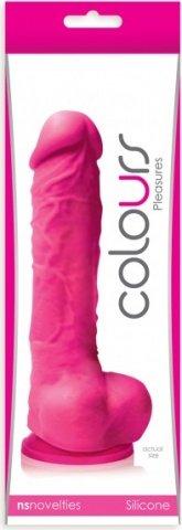Фаллоимитатор Colours - 5 на присоске розовый 17 см, фото 2