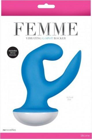 Вибромассажер Femme - Vibrating G Spot Rocker - Blue голубой, фото 2