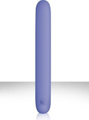 Вибромассажер плоский Serenity - Blue USB из силикона голубой, фото 4