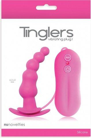 Анальная пробка Tinglers - Plug I с вибрацией розовая, фото 2