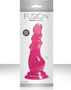 Елочка-насадка Fusion Pleasure Dongs к страпону красный 15 см, фото 3