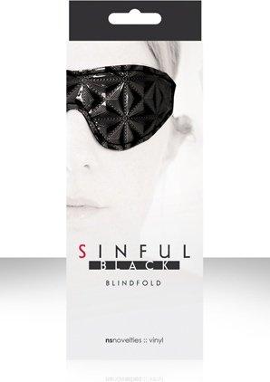 Маска на глаза sinful blidfold закрытая черная, фото 3