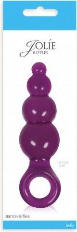 Анальная пробка Jolie - Ripples средняя фиолетовая, фото 4