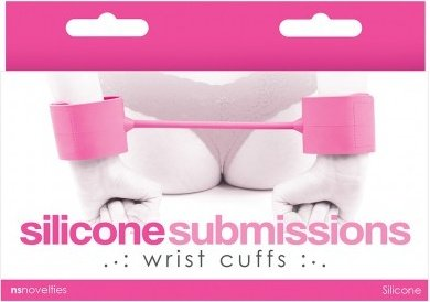 Наручники силиконовые Silicone Submissions Wrist Cuffs розовые, фото 2