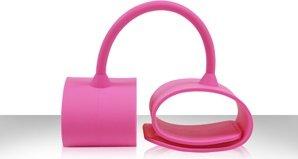 Наручники силиконовые Silicone Submissions Wrist Cuffs розовые, фото 3