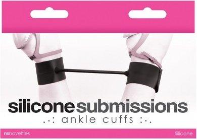 Наножники силиконовые Silicone Submissions Ankle Cuffs черные, фото 2