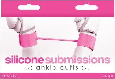 Наножники силиконовые Silicone Submissions Ankle Cuffs розовые, фото 2