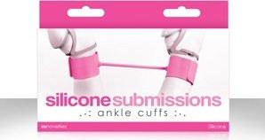 Наножники силиконовые Silicone Submissions Ankle Cuffs розовые, фото 3