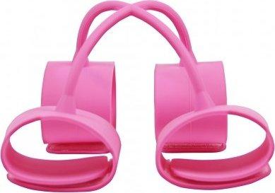 Набор наножников и наручников Silicone Submissions Hog Tie Cuffs розовый