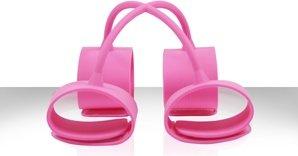 Набор наножников и наручников Silicone Submissions Hog Tie Cuffs розовый, фото 2