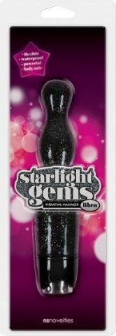 Вибромассажер Starlight Gems Libra Vibrating Massager черный, фото 2