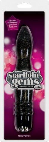 Вибромассажер Starlight Gems Vela Vibrating Massager черный, фото 2
