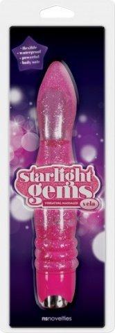 Вибромассажер Starlight Gems Vela Vibrating Massager розовый, фото 2