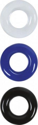 Набор эрекционных колец Stamina Rings в трех цветах