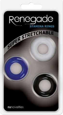 Набор эрекционных колец Stamina Rings в трех цветах, фото 2