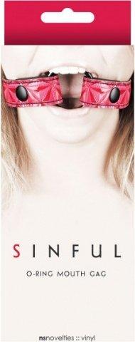 Расширитель для рта Sinful O-Ring Mouth Gag розовый, фото 2