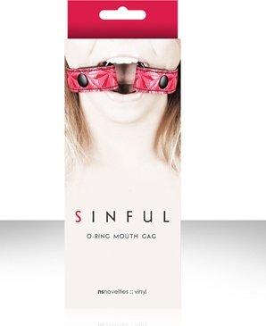 Расширитель для рта Sinful O-Ring Mouth Gag розовый, фото 3