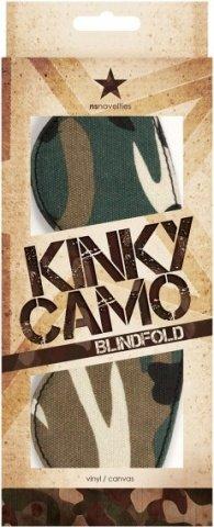 Маска закрытая Kinky Camo камуфляж, фото 2