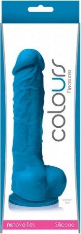 Фаллоимитатор Colours - 5 Pleasures на присоске голубой 17 см, фото 2