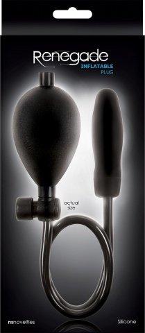 Анальная пробка расширитель Renegade - Inflatable, чёрная, фото 4