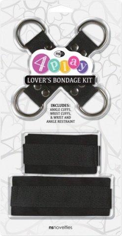 Набор для фиксации 4Play - Lover's чёрный, фото 2