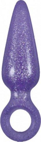 Анальная пробка Booty Pops с кольцом мини фиолетовая