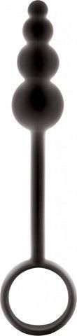 Анальные бусы Renegade - Ripcord на длиной рукоятке чёрные, фото 3