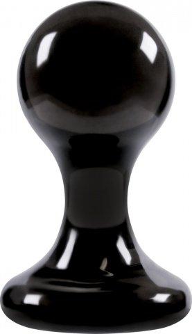 Анальная пробка Luna Balls на присоске большая чёрная, фото 2