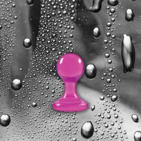 Анальная пробка Luna Balls на присоске средняя розовая, фото 5