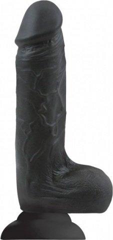 Фаллоимитатор Colours - Softies 7 Dildo - Black на присоске черный 20 см