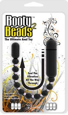 Анальная вибро-цепочка Booty Beads Black черная, фото 4
