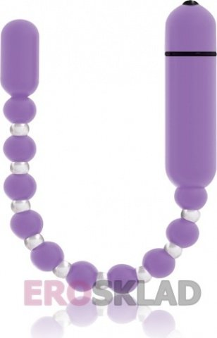 Анальные шарики с вибрацией Booty Beads 2 PowerBullet, цвет Сиреневый