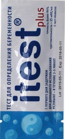Тест-полоска Itest Plus для определения беременности, 1 шт