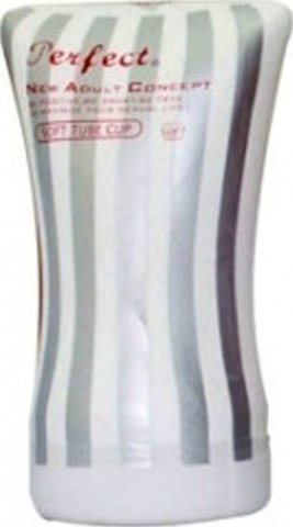 Мастурбатор Soft, силикон, бело-серебристый