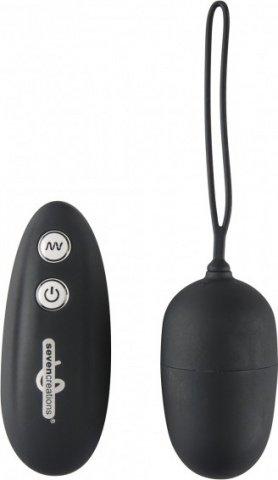 Виброяйцо с дистанционным управлением Ultra 7 Remote Black RW04U004B1B1SC