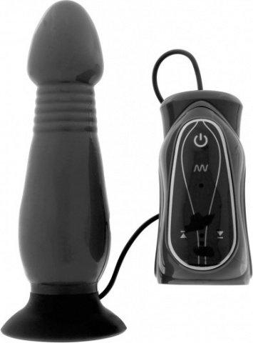 Анальный стимулятор с вибрацией thrusting butt plug black z003b1f108b1sc, фото 4