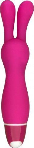 Вибратор для стимуляции клитора розовый 10,5 см Vibe Therapy Lapin