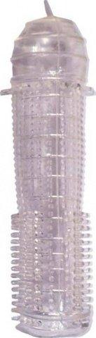 Насадка ультратонкая, рельефная, прозрачная, 25 х130 мм