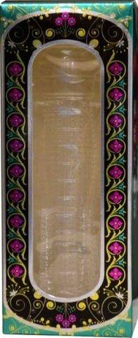 Насадка ультратонкая, рельефная, прозрачная, 25 х130 мм, фото 2