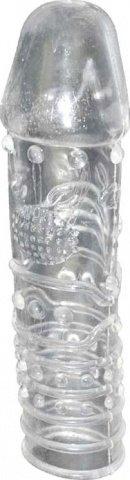Насадка рельефная с головкой, прозрачная. 25 х145 мм
