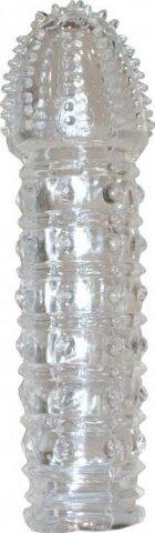 Насадка с пупырышками, прозрачная, 25 х150 мм