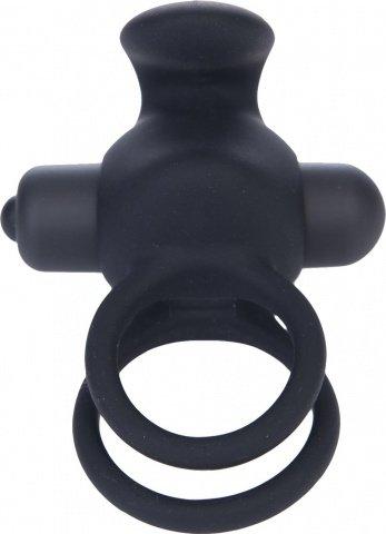 Виброкольцо, 10 режимов вибрации, черное, фото 3
