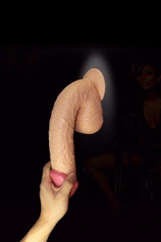 Фаллоимитатор на присоске, 26,7 см, телесный, фото 2